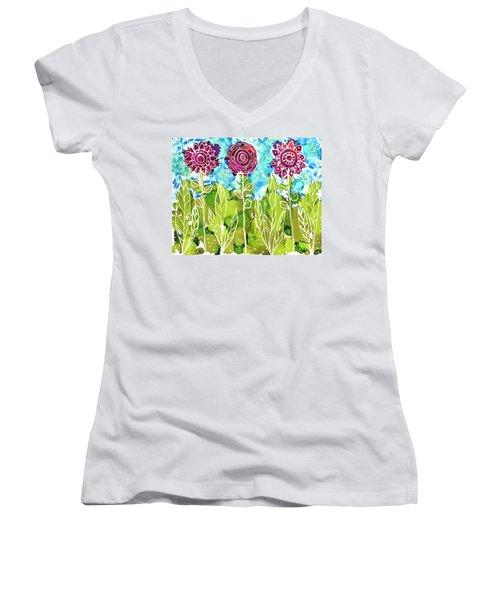 Flower Power Women's V-Neck
