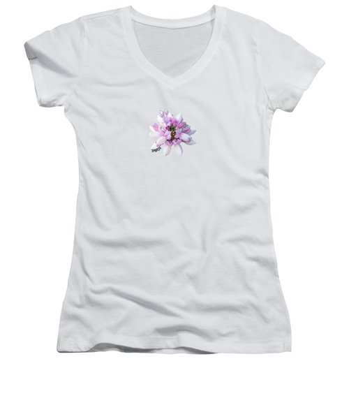 Flower Securigera Varia 2 Women's V-Neck T-Shirt (Junior Cut) by Mike Breau
