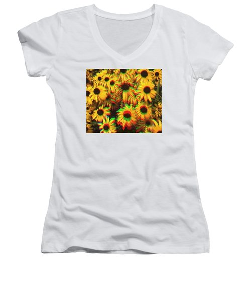 Flower Trip Women's V-Neck