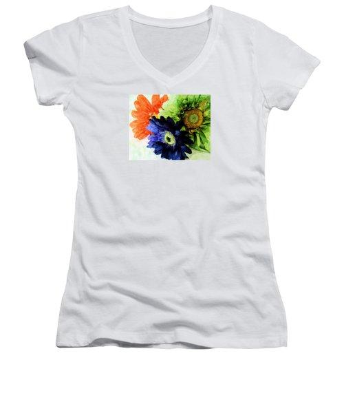 Flower X Three Women's V-Neck (Athletic Fit)