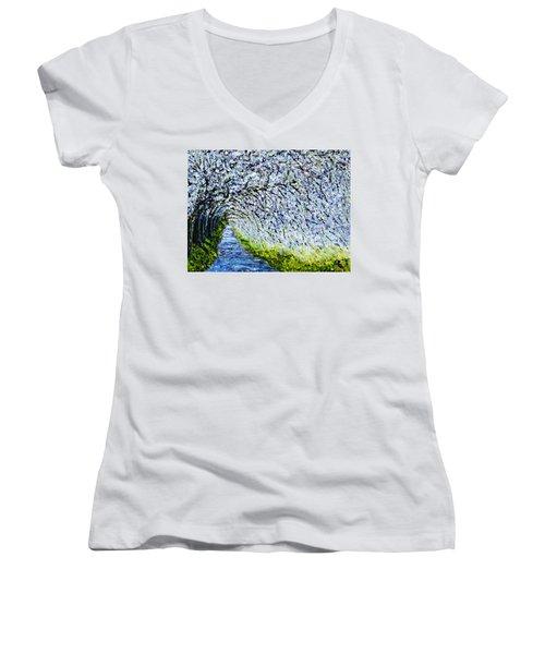 Flowering Tree Lane Women's V-Neck
