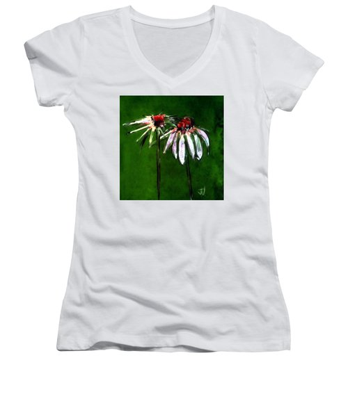 Flowers - 14april2017 Women's V-Neck T-Shirt (Junior Cut) by Jim Vance