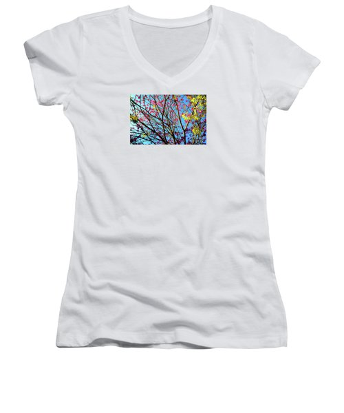 Flowers And Trees Women's V-Neck