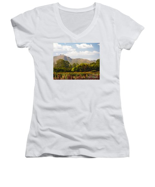 Flowers And Two Trees Women's V-Neck (Athletic Fit)