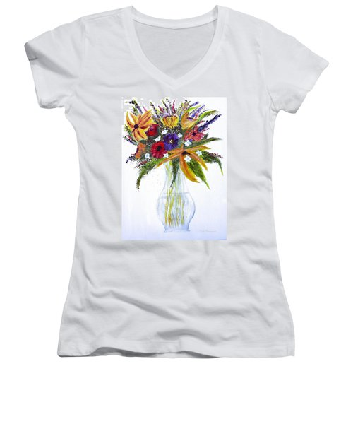 Flowers For An Occasion Women's V-Neck T-Shirt