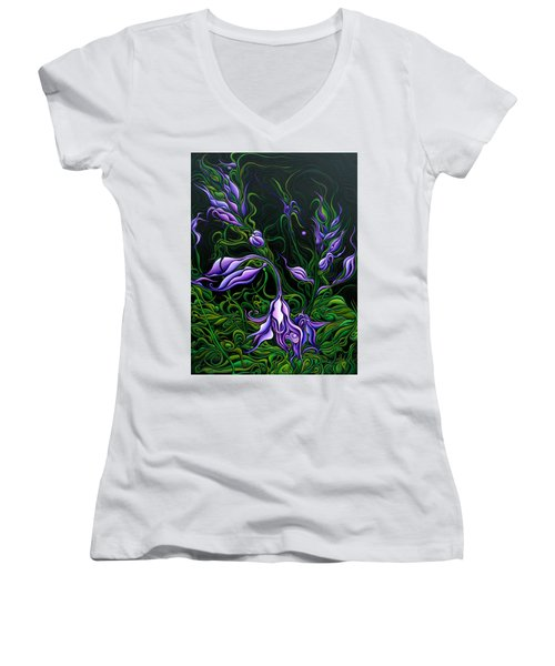 Flowers From The Failed Fiction Women's V-Neck (Athletic Fit)