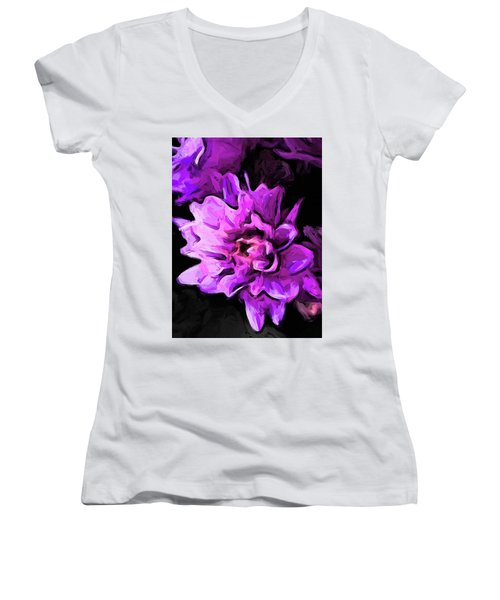 Flowers Of Lavender And Pink 1 Women's V-Neck (Athletic Fit)
