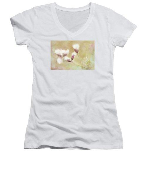 Fluffy Thistle Women's V-Neck T-Shirt