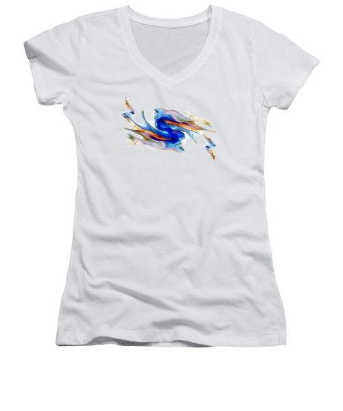Fluid Colors Women's V-Neck