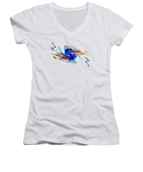 Fluid Colors Women's V-Neck (Athletic Fit)
