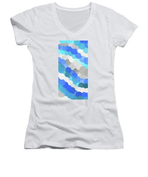 Fluid Women's V-Neck T-Shirt (Junior Cut) by Dan Sproul