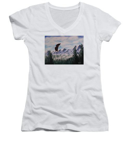 Fly Like An Eagle Women's V-Neck T-Shirt