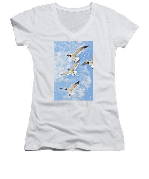 Flying High Women's V-Neck T-Shirt