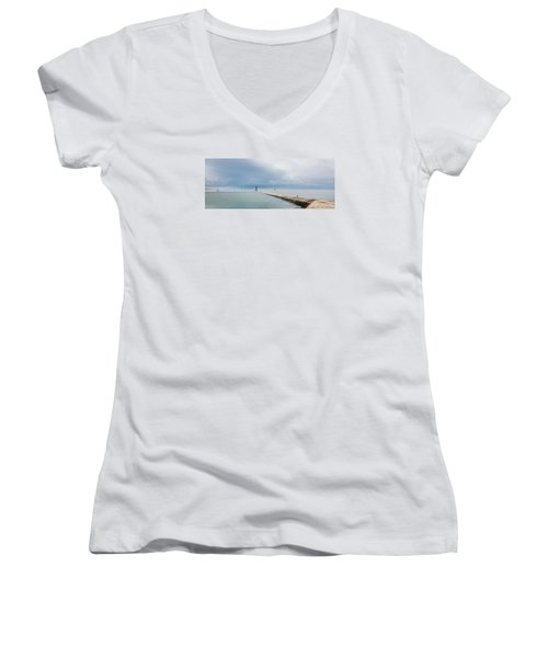 Fog Lifts Women's V-Neck (Athletic Fit)