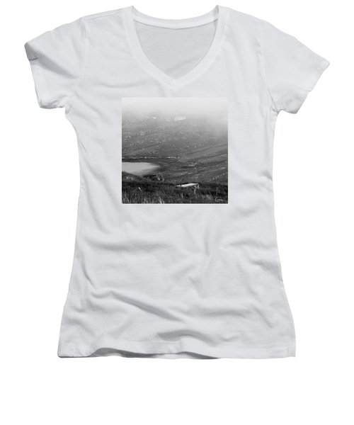 Foggy Scottish Morning Women's V-Neck (Athletic Fit)