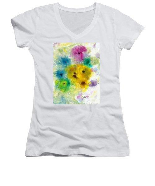 For Elise Women's V-Neck T-Shirt (Junior Cut) by Joan Hartenstein