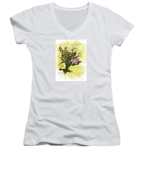 For Titania Women's V-Neck