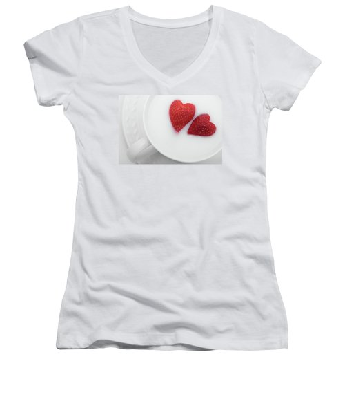 For Valentine's Day Women's V-Neck T-Shirt