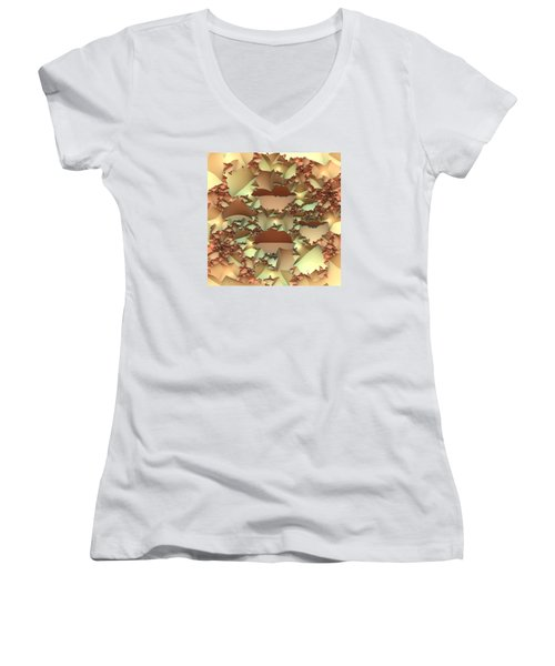 Women's V-Neck T-Shirt (Junior Cut) featuring the digital art For Your Wall by Lyle Hatch