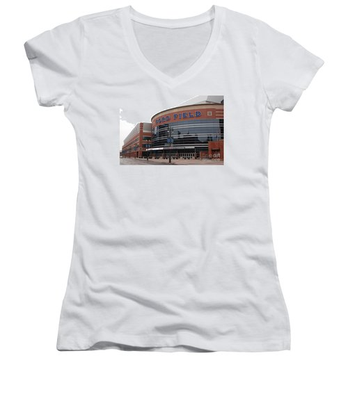Ford Field Women's V-Neck T-Shirt