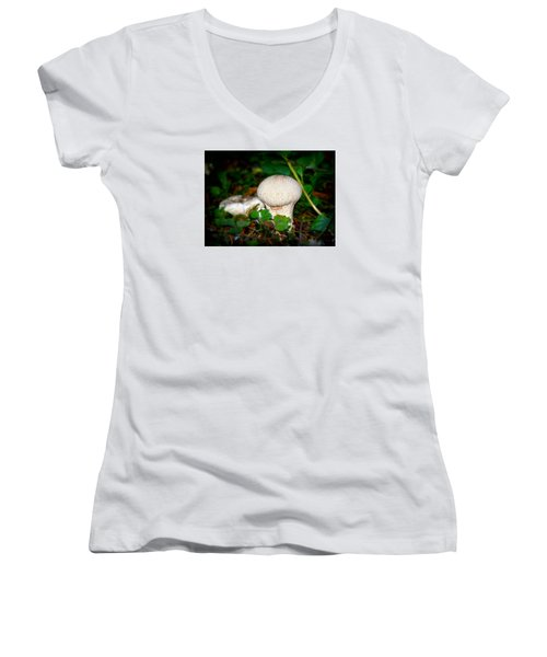 Forest Floor Mushroom Women's V-Neck T-Shirt