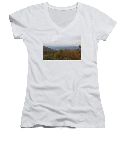 Forest Landscape View Women's V-Neck T-Shirt