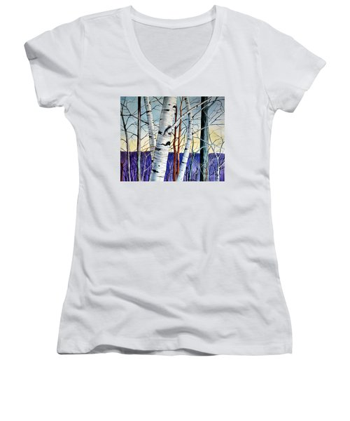 Forest Of Trees Women's V-Neck (Athletic Fit)