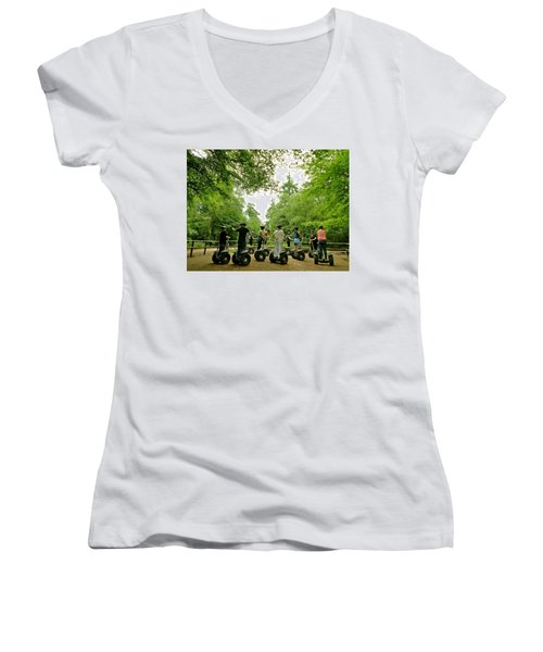 Forest Segway Women's V-Neck (Athletic Fit)