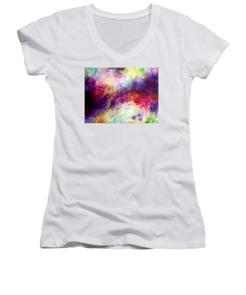 Forever Is A Long Time Women's V-Neck T-Shirt (Junior Cut) by Tracy Bonin