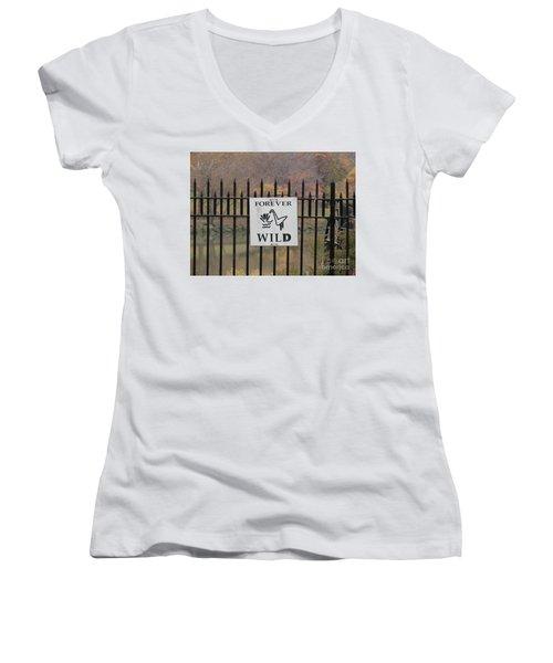 Forever Wild Women's V-Neck T-Shirt