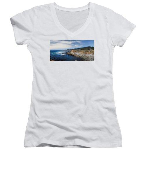 Fort Bragg Mendocino County California Women's V-Neck T-Shirt