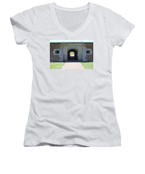 Fort Moultrie Women's V-Neck T-Shirt