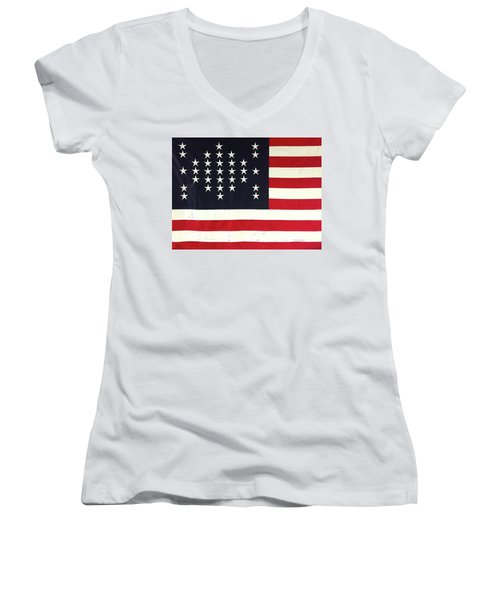 Fort Sumter Flag Women's V-Neck T-Shirt