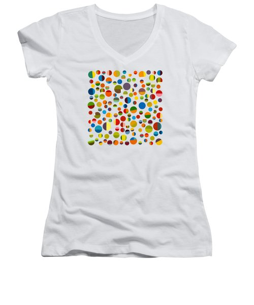 Found My Marbles 3.0 Women's V-Neck T-Shirt (Junior Cut) by Michelle Calkins