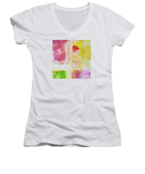 Four Corners Women's V-Neck T-Shirt (Junior Cut) by William Wyckoff