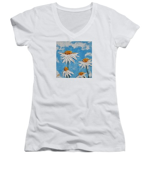 Four Daisies Women's V-Neck (Athletic Fit)
