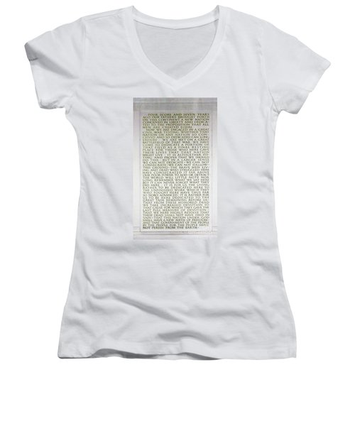 Four Score And Seven Years...... Women's V-Neck (Athletic Fit)