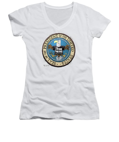 Fox News Presidential Seal Women's V-Neck