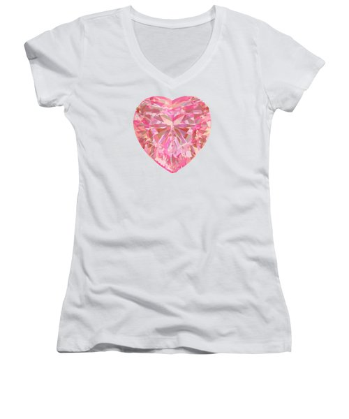 Fracked Heart Women's V-Neck T-Shirt