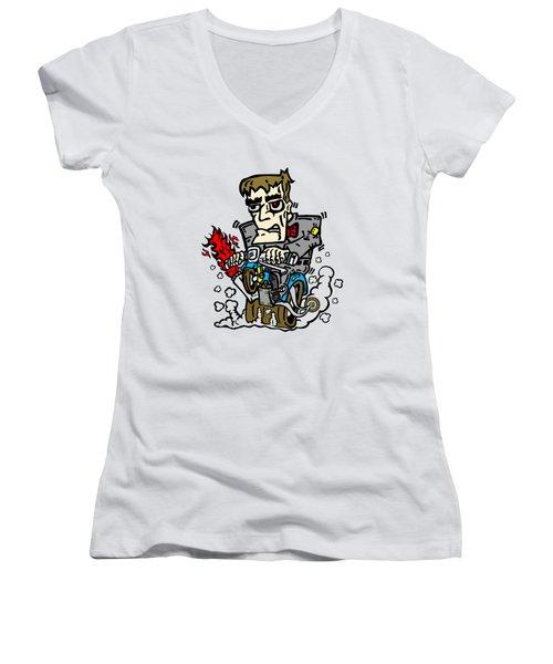 Franken Dude Women's V-Neck T-Shirt