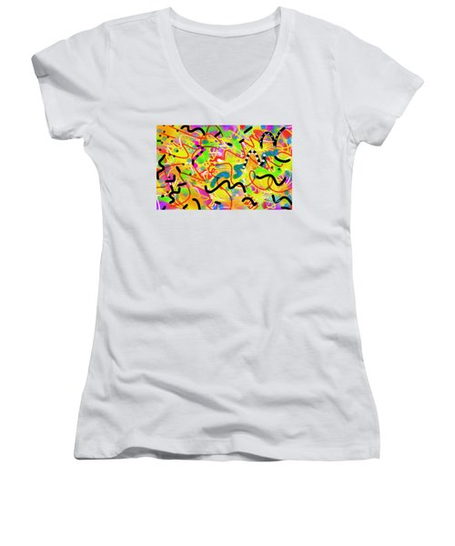 Free For All Women's V-Neck T-Shirt (Junior Cut) by Kevin Caudill