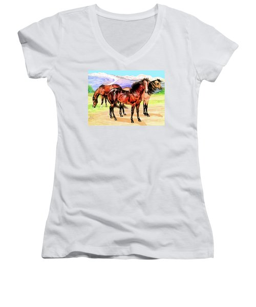 Free Range Women's V-Neck T-Shirt