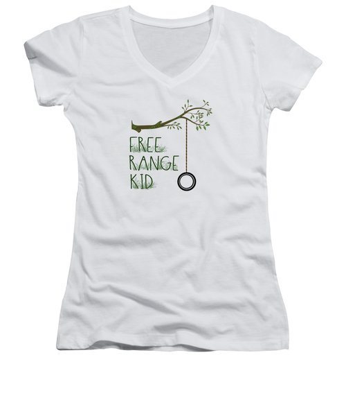 Free Range Kid Women's V-Neck (Athletic Fit)