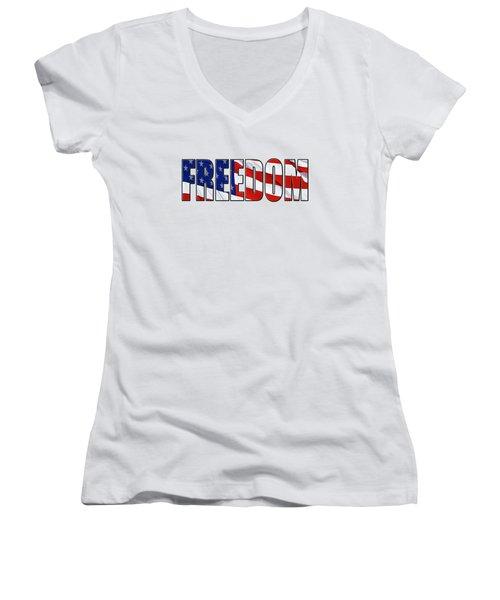 Freedom Women's V-Neck T-Shirt