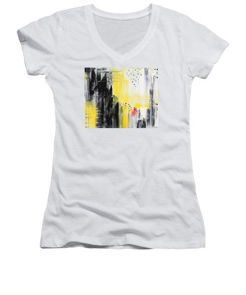 Freedom Women's V-Neck T-Shirt (Junior Cut) by Sladjana Lazarevic