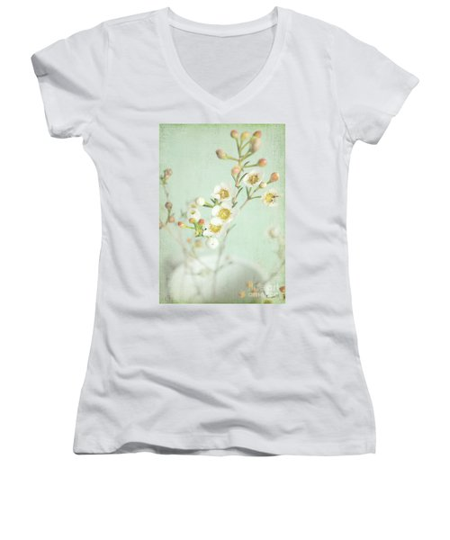 Freesia Blossom Women's V-Neck T-Shirt
