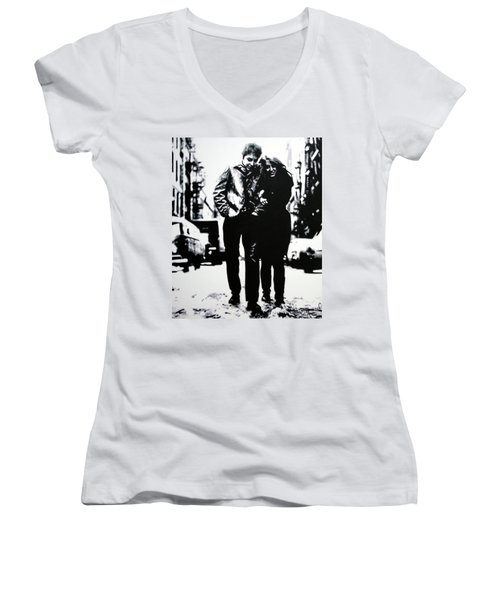Freewheelin Women's V-Neck T-Shirt