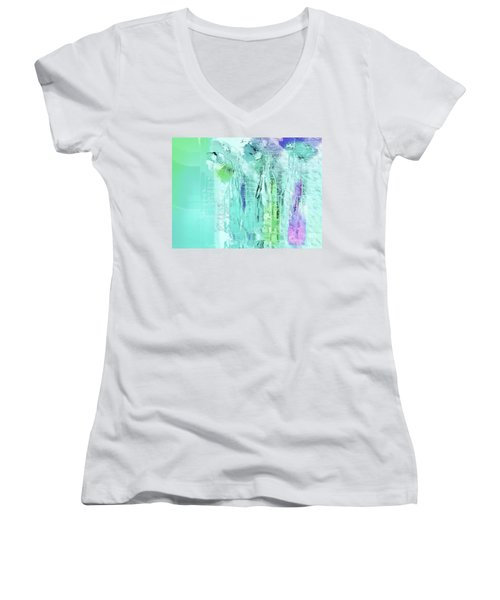 Women's V-Neck T-Shirt (Junior Cut) featuring the digital art French Still Life - 14b by Variance Collections