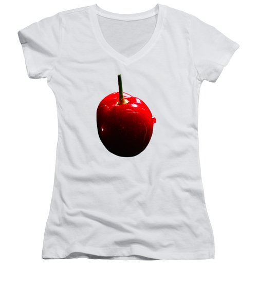 Fresh Cherry To Be Picked Women's V-Neck (Athletic Fit)
