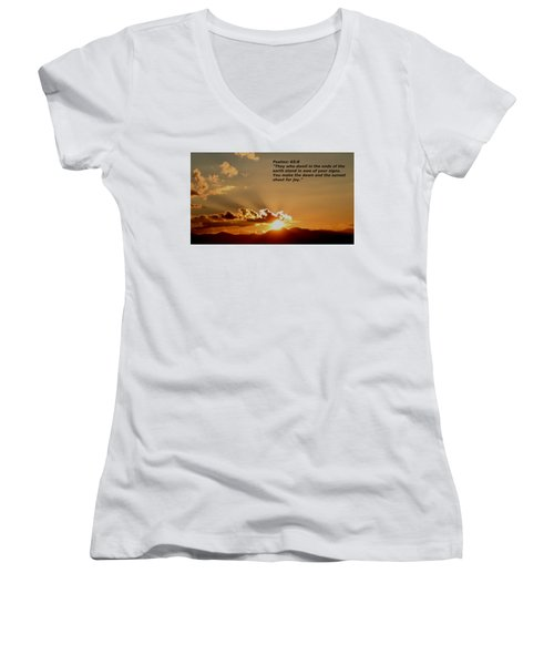 From The East To The West Women's V-Neck (Athletic Fit)